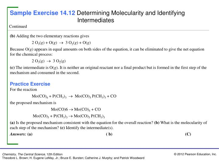 Sample Exercise 14.12