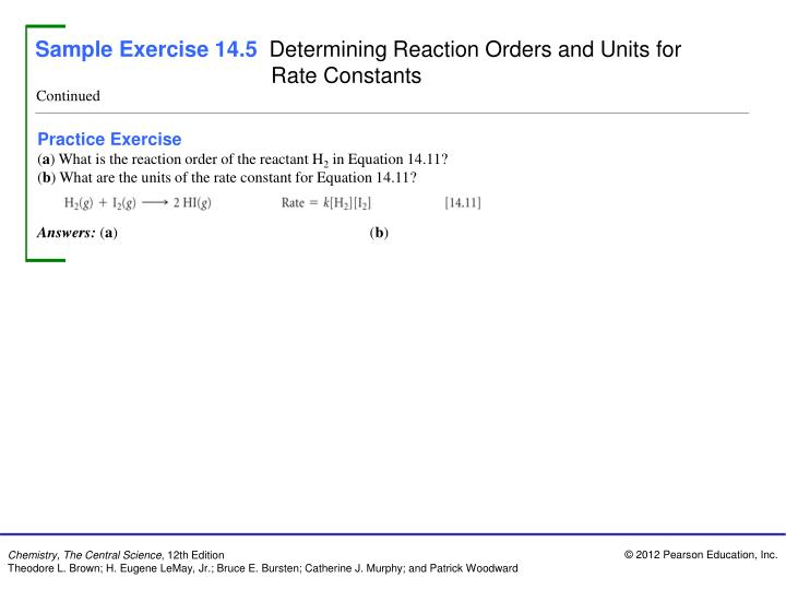 Sample Exercise 14.5