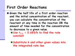first order reactions5