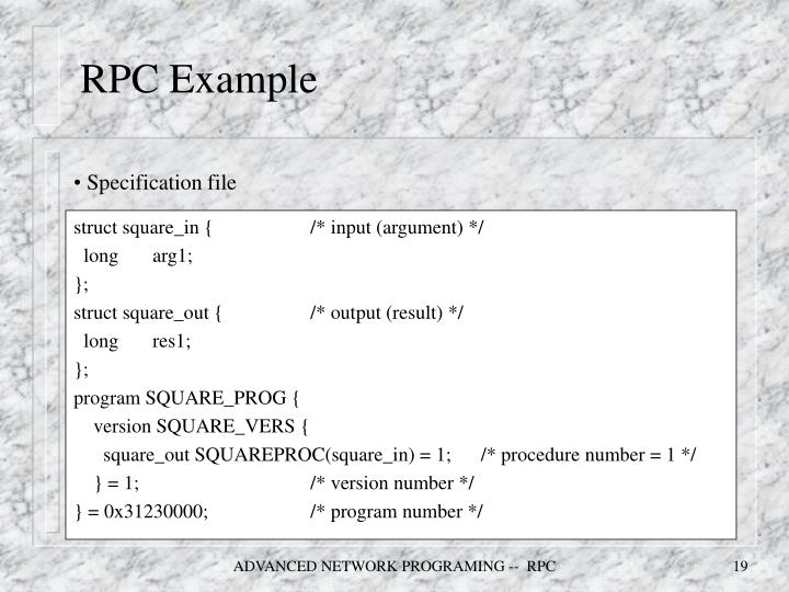 RPC Example