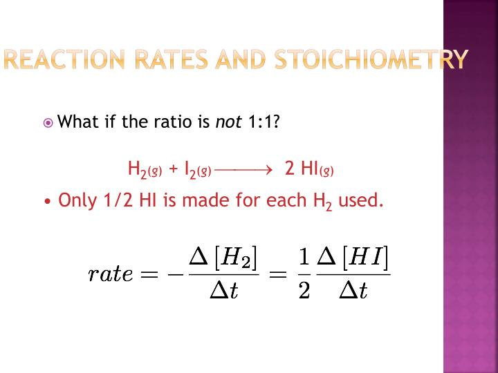 Reaction Rates and