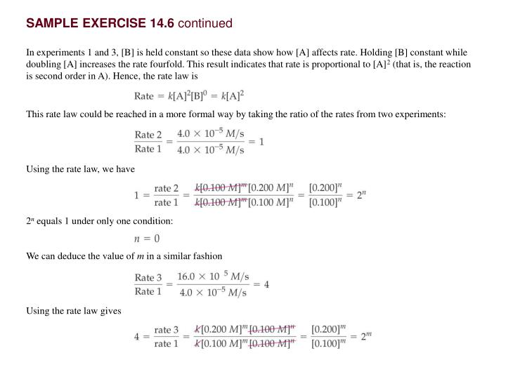 SAMPLE EXERCISE 14.6