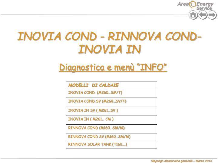 INOVIA COND - RINNOVA COND-