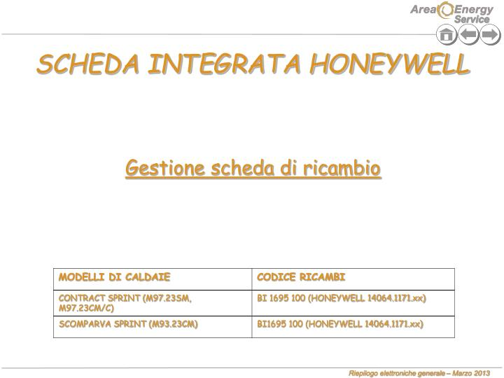 SCHEDA INTEGRATA HONEYWELL