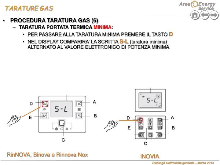 TARATURE GAS