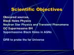 scientific objectives2