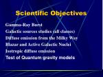 scientific objectives3