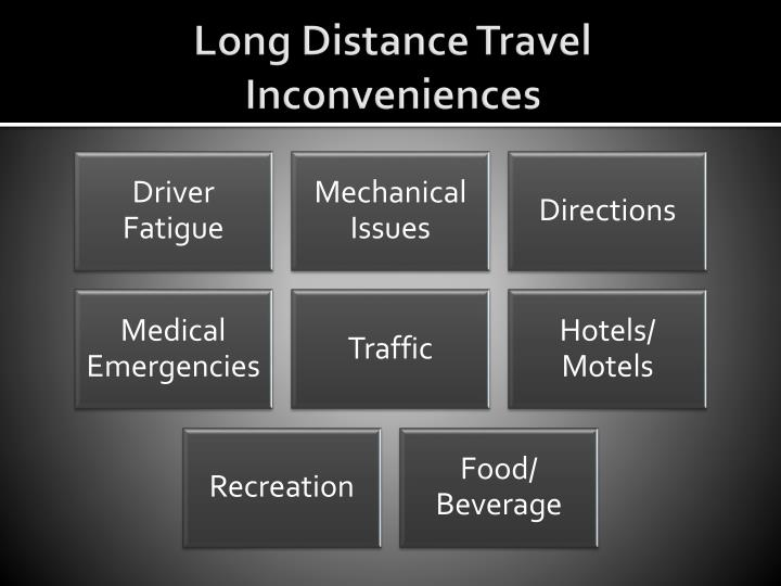 Long Distance Travel Inconveniences