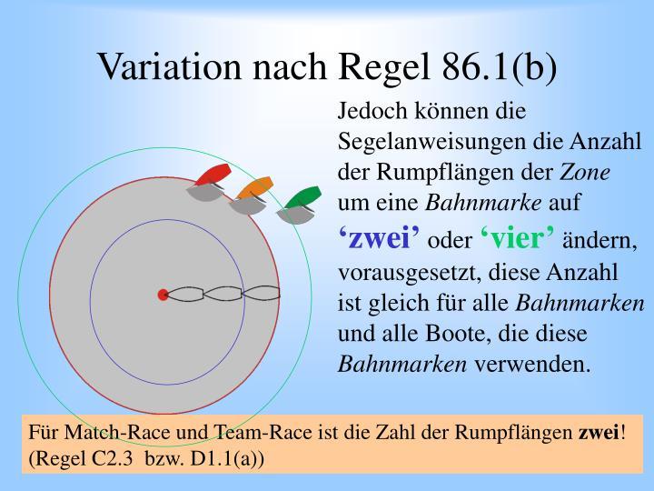 Variation nach Regel 86.1(b)