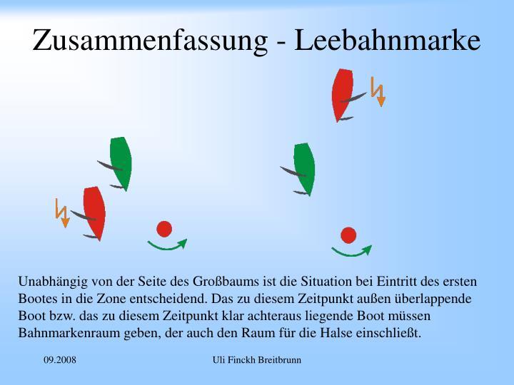 Zusammenfassung - Leebahnmarke