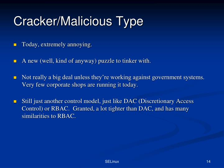 Cracker/Malicious Type