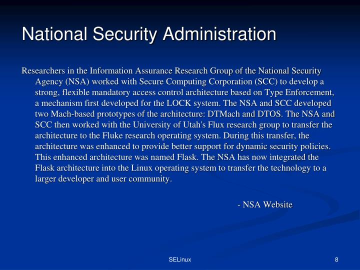 National Security Administration
