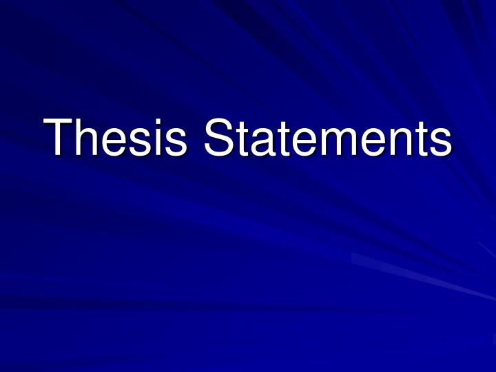 thesis slideshow A well-written thesis proposal will definitely impress the supervisor and put you on the path to a first-rate thesis however, the thought of writing it can be overwhelming because of a large amount of research.