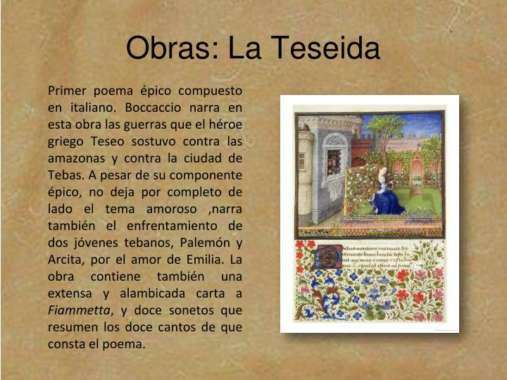 Obras: La Teseida