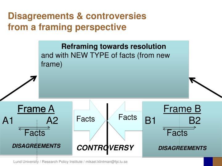 Disagreements & controversies