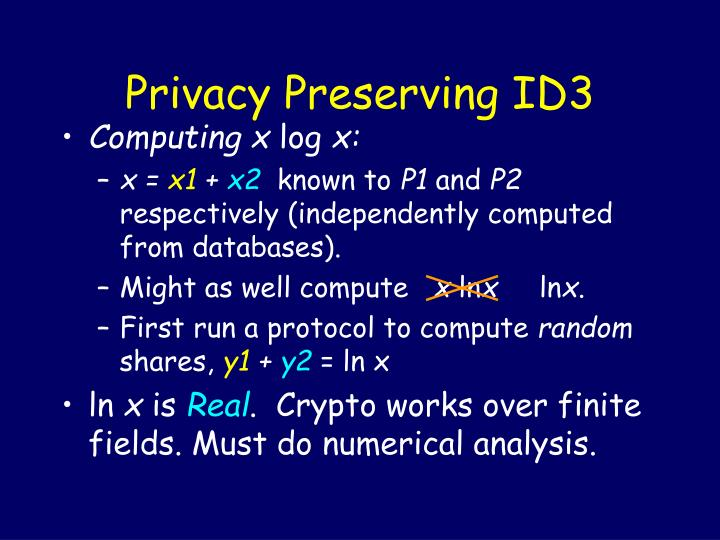 Privacy Preserving ID3