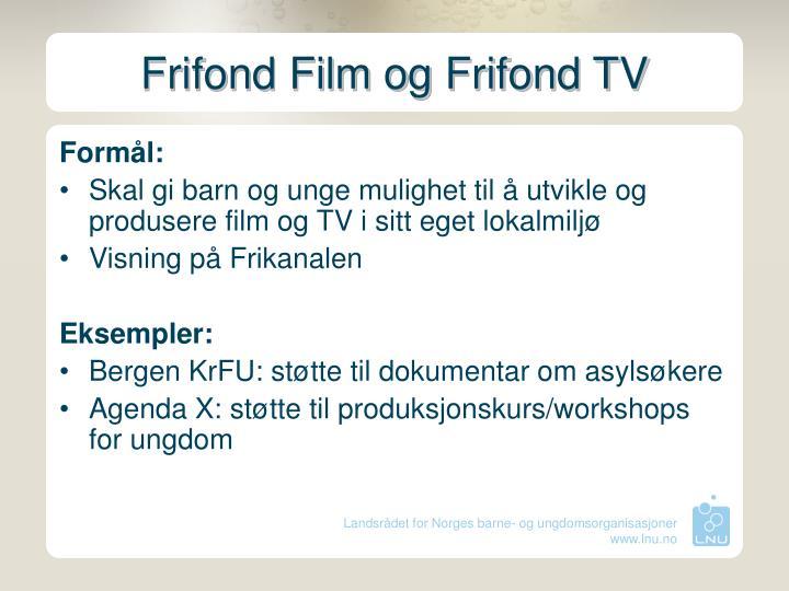 Frifond Film og Frifond TV