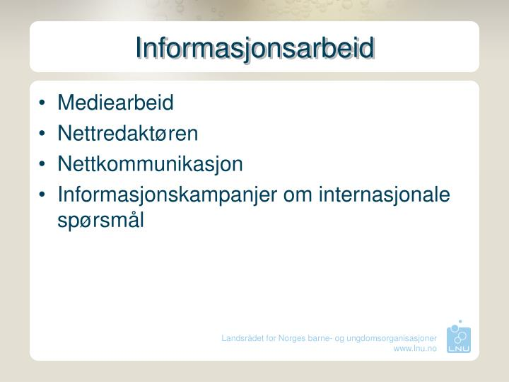 Informasjonsarbeid