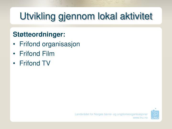 Utvikling gjennom lokal aktivitet