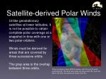 satellite derived polar winds