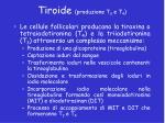 tiroide produzione t 3 e t 4