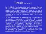 tiroide struttura