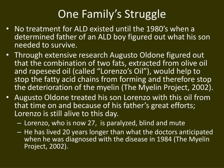 One Family's Struggle