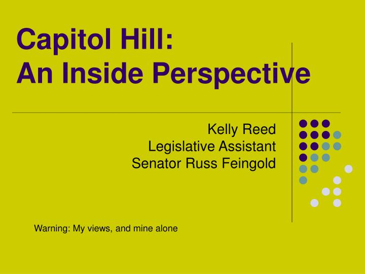 capitol hill an inside perspective