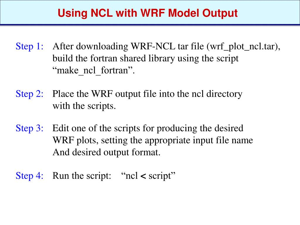 PPT - NCL for WRF Model Output PowerPoint Presentation - ID:4207928