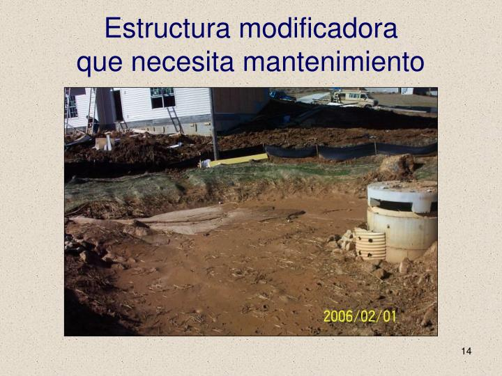 Estructura modificadora