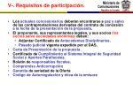 v requisitos de participaci n1