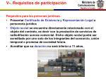 v requisitos de participaci n4