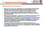 v requisitos de participaci n7
