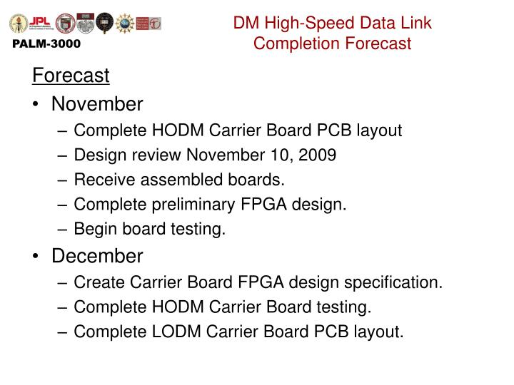 DM High-Speed Data Link