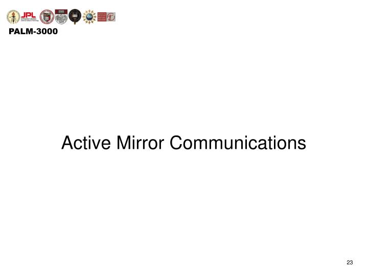 Active Mirror Communications