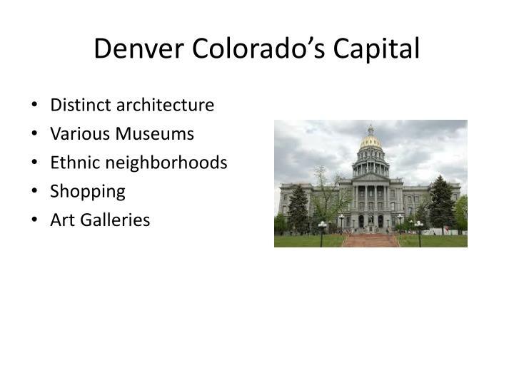 Denver colorado s capital