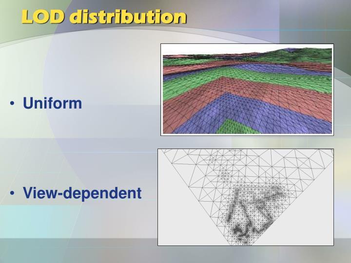LOD distribution