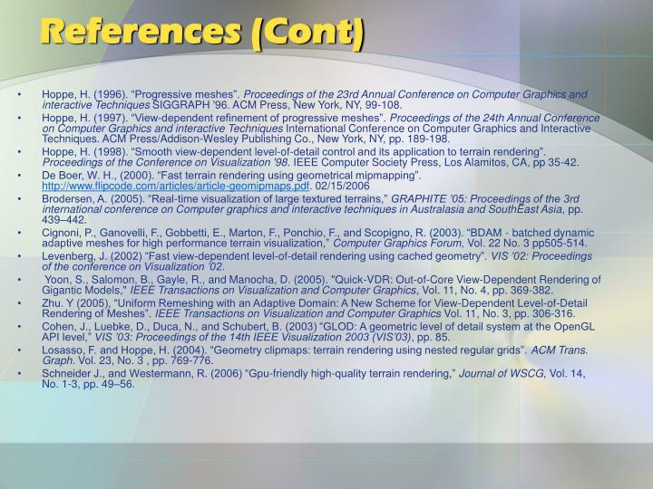 References (Cont)