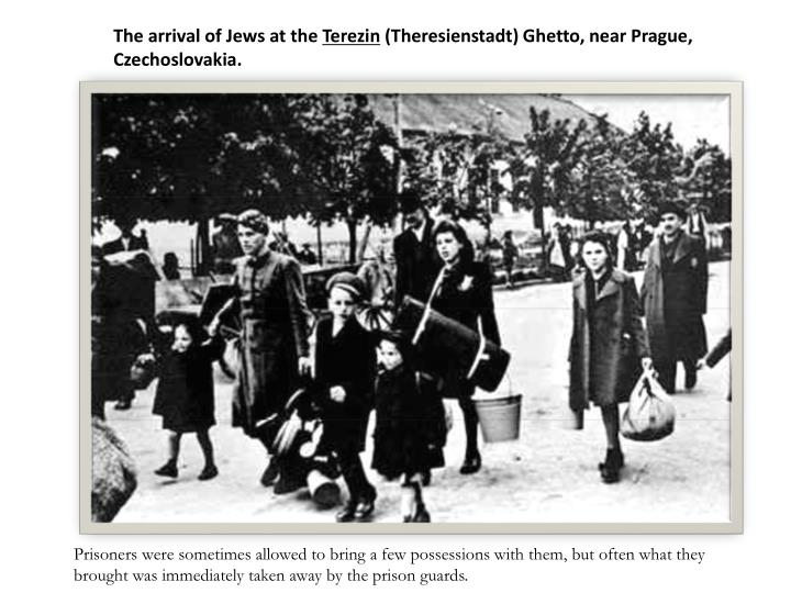 The arrival of Jews at the