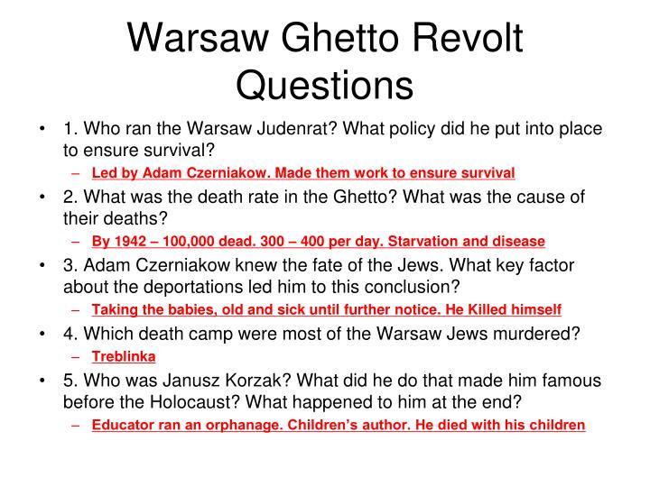 Warsaw Ghetto Revolt Questions