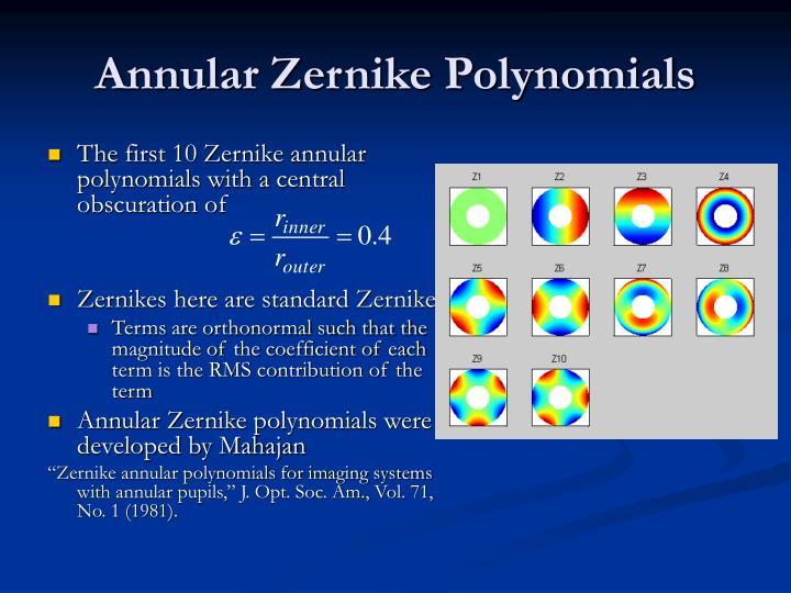 Annular Zernike Polynomials