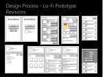 design process lo fi prototype revisions