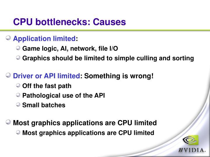CPU bottlenecks: Causes