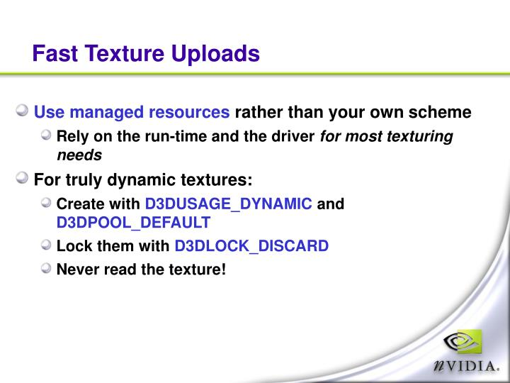 Fast Texture Uploads