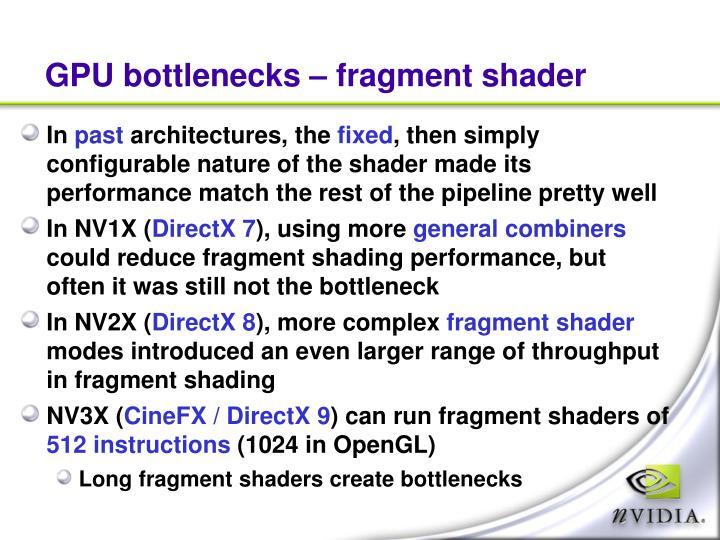 GPU bottlenecks – fragment shader