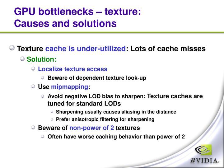 GPU bottlenecks – texture: