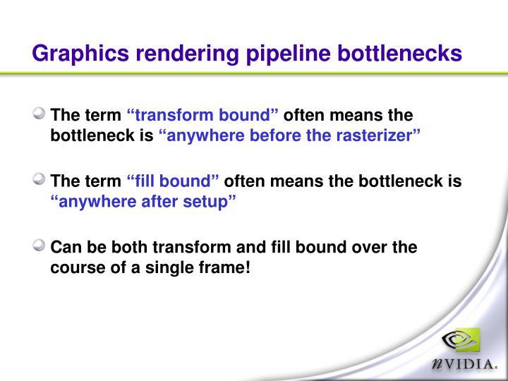 Graphics rendering pipeline bottlenecks