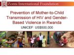 prevention of mother to child transmission of hiv and gender based violence in rwanda