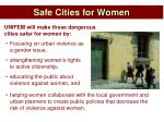 safe cities for women