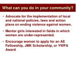 what can you do in your community